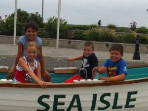 all kids in boat